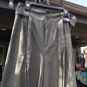Free People Olive Green Wide legged pants